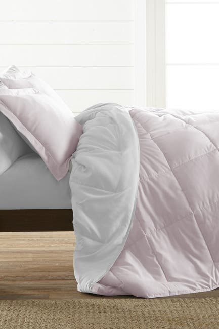 Image of IENJOY HOME Treat Yourself To The Ultimate Down Alternative Reversible 3-Piece Comforter Set - Blush - Queen