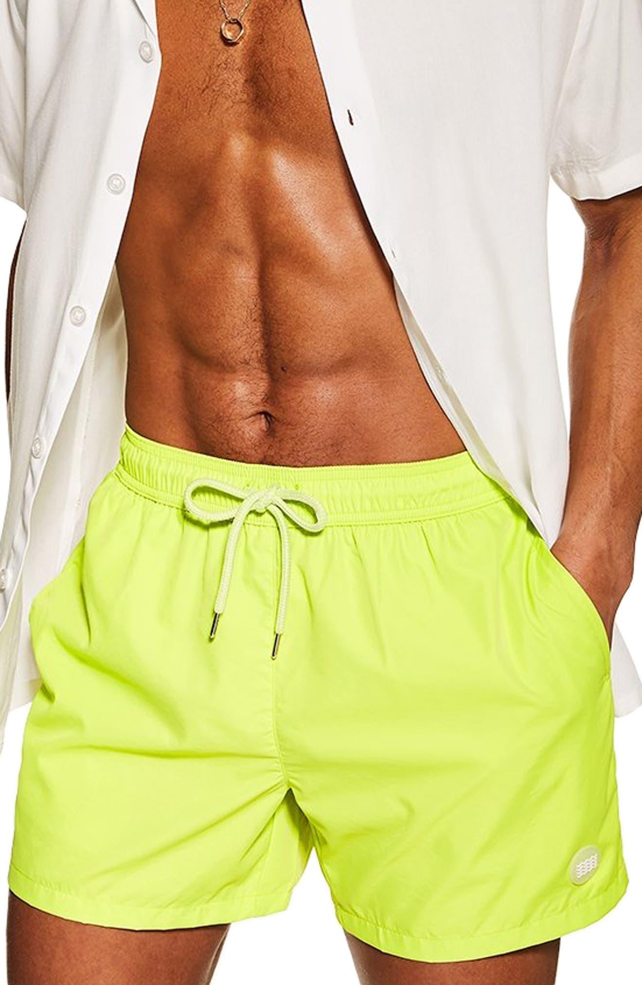 Swim Trunks, Main, color, GREEN