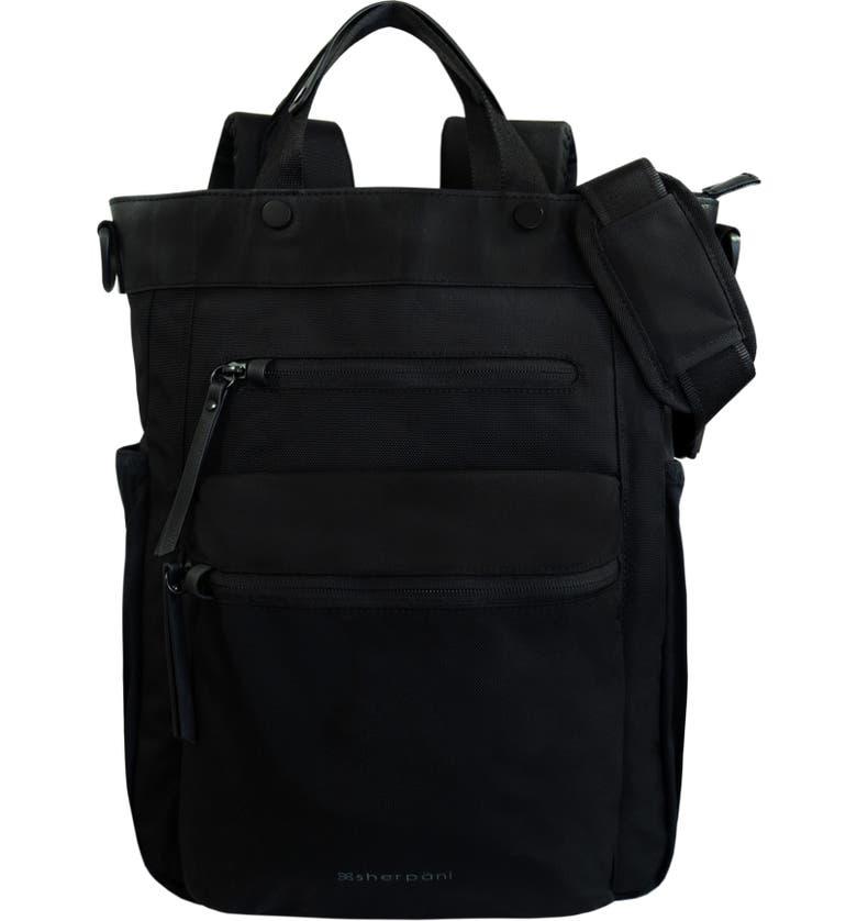 SHERPANI Camden Convertible Backpack, Main, color, CARBON
