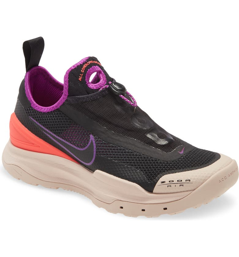 NIKE ACG Zoom Air AO Trail Sneaker, Main, color, BLACK/ BLACK-LASER CRIMSON