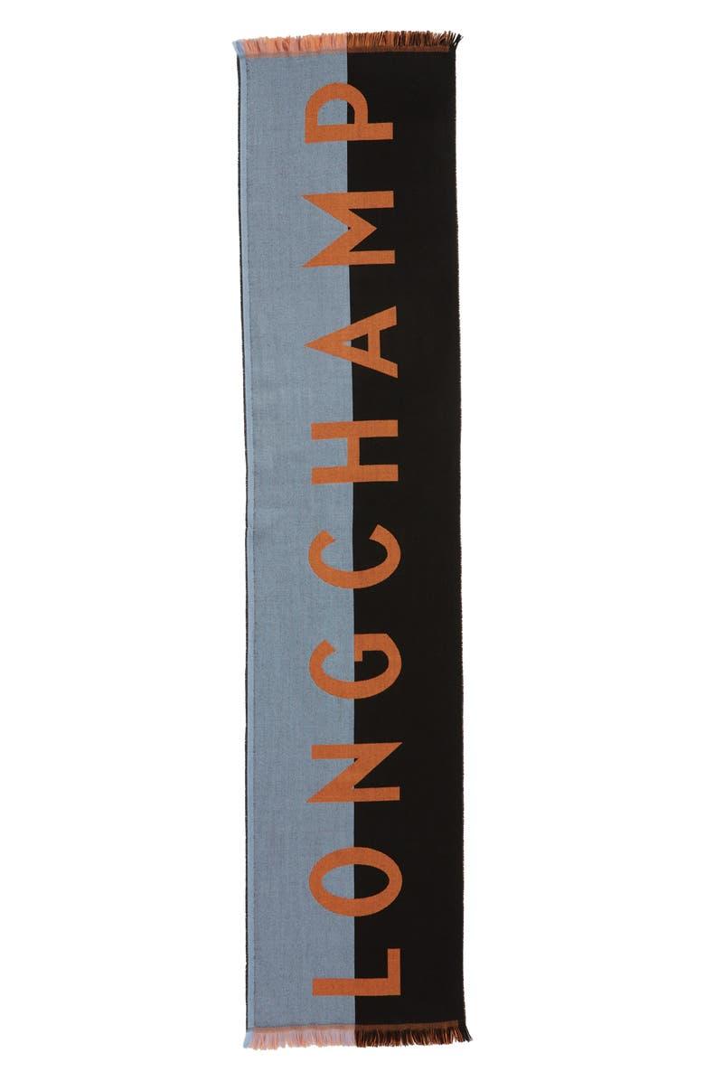 LONGCHAMP Le Pliage Cuir Webbing Scarf, Main, color, 410
