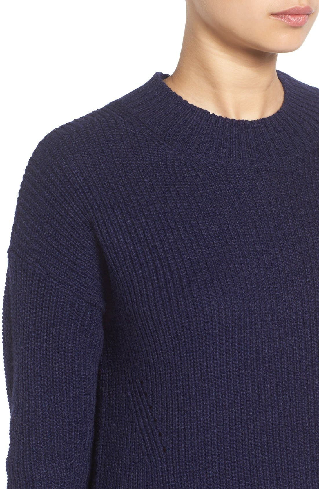 ,                             Ribbed Mock Neck Pullover,                             Alternate thumbnail 24, color,                             410