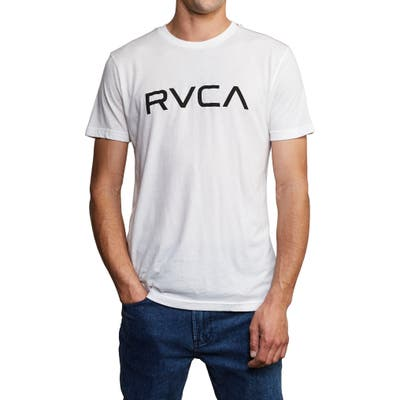 Rvca Big Rvca Logo T-Shirt, White