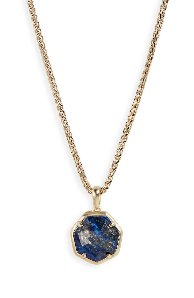 KENDRA SCOTT Cynthia Pendant Necklace, Main, color, GOLD/ BLUE LAPIS