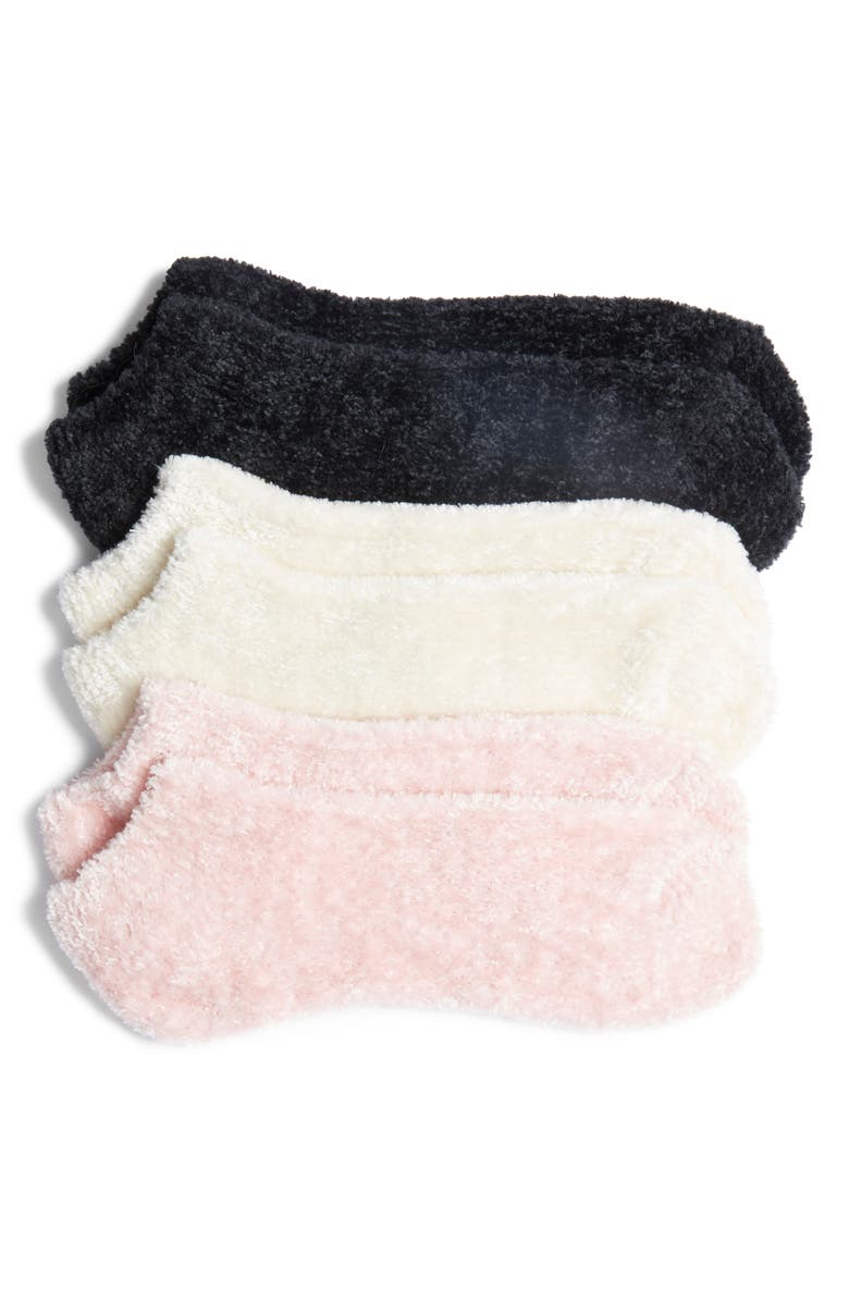 HUE Toasty Toes 3-Pack Fuzzy Liner Socks, Main, color, 250