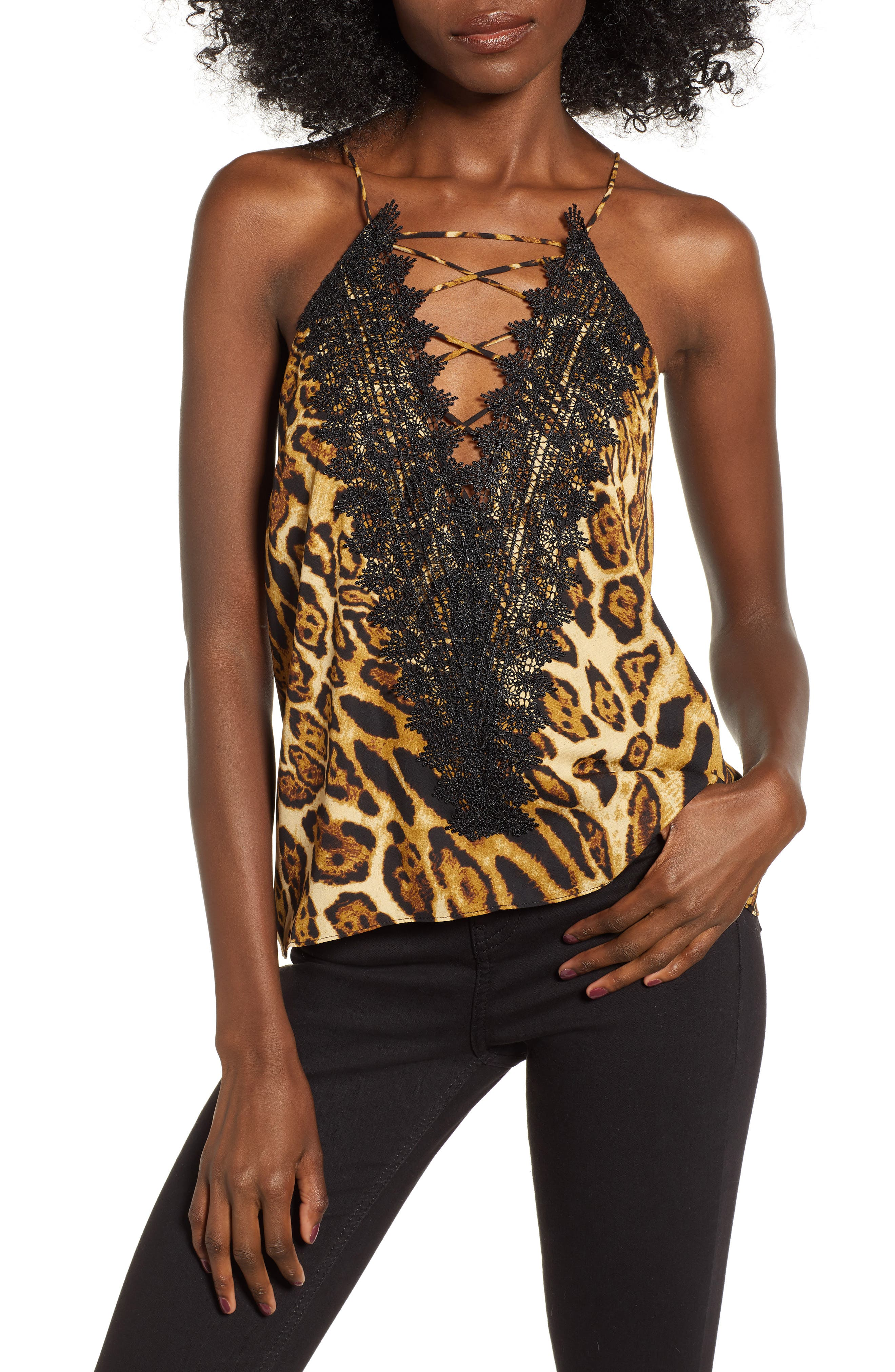 ,                             Posie Strappy Camisole,                             Main thumbnail 128, color,                             002