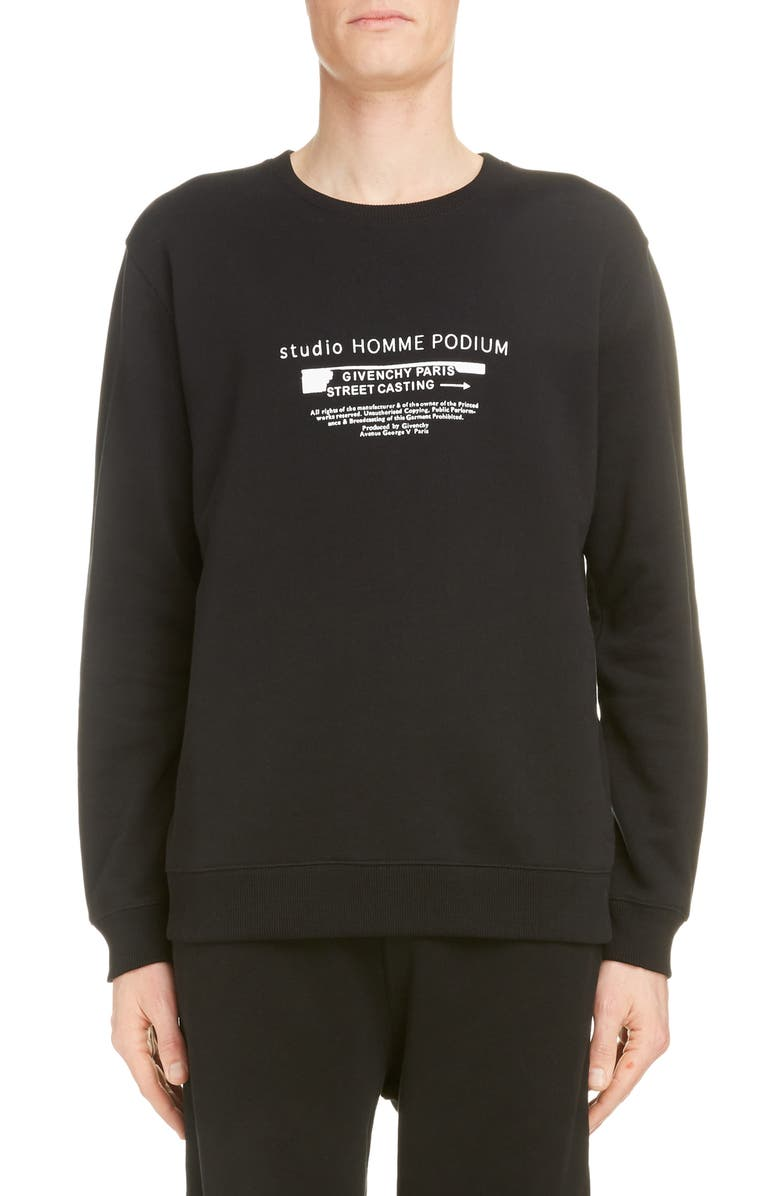 Givenchy Logo Graphic Cotton Sweatshirt