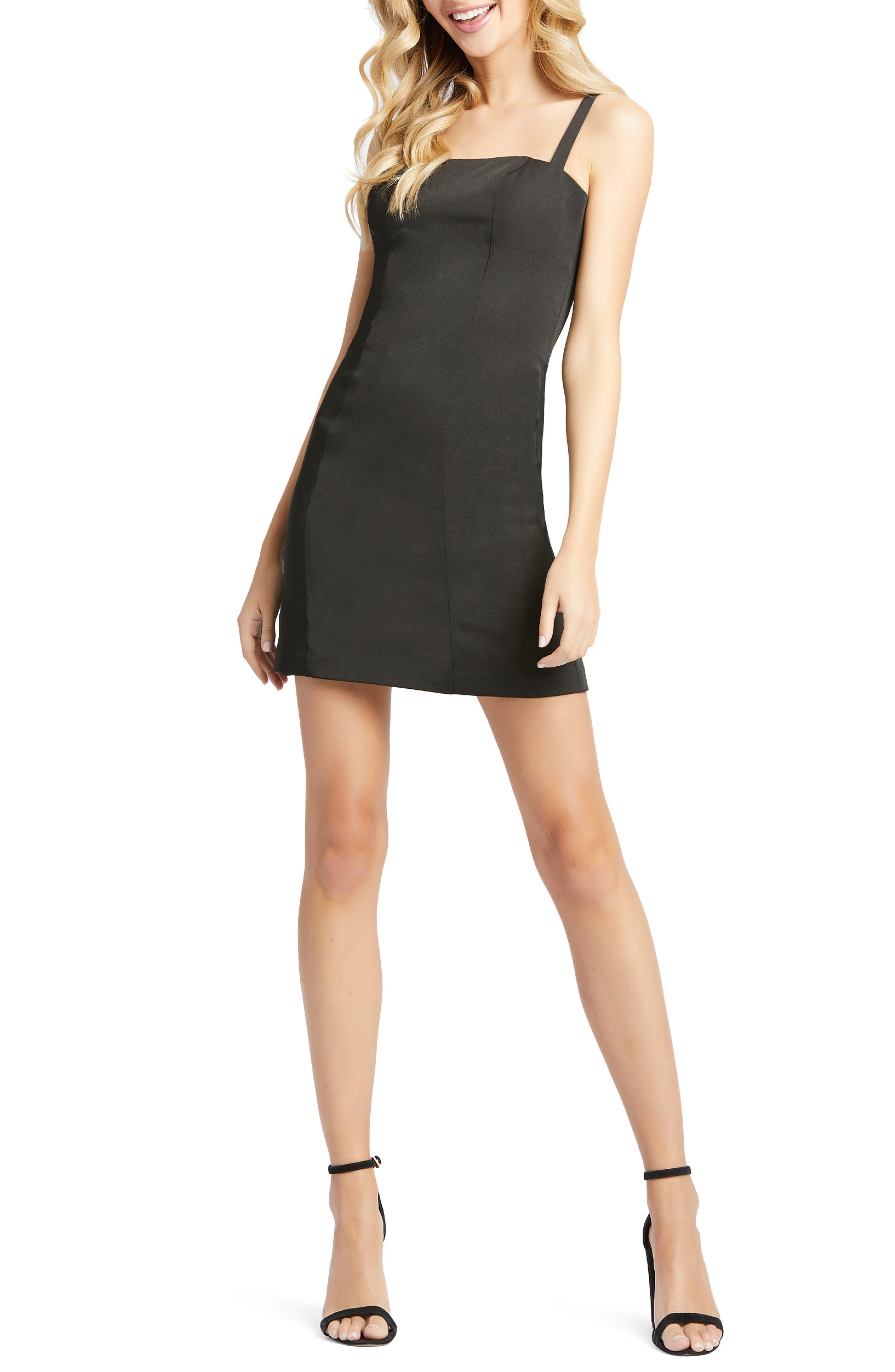 Image of IEENA FOR MAC DUGGAL Square Neck Mini Dress
