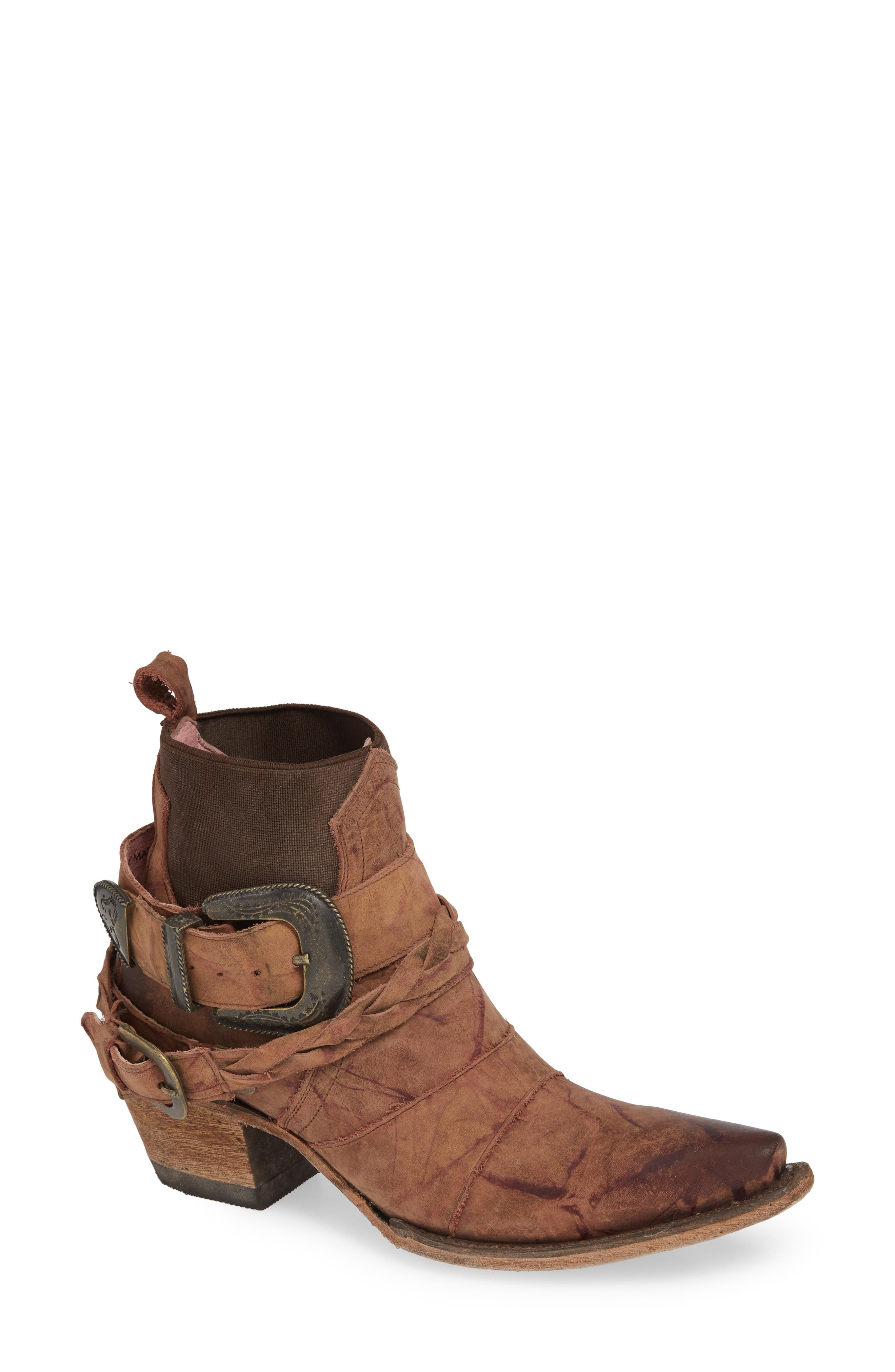 Lane Boots X Junk Gypsy Hwy 237 Bootie, Brown