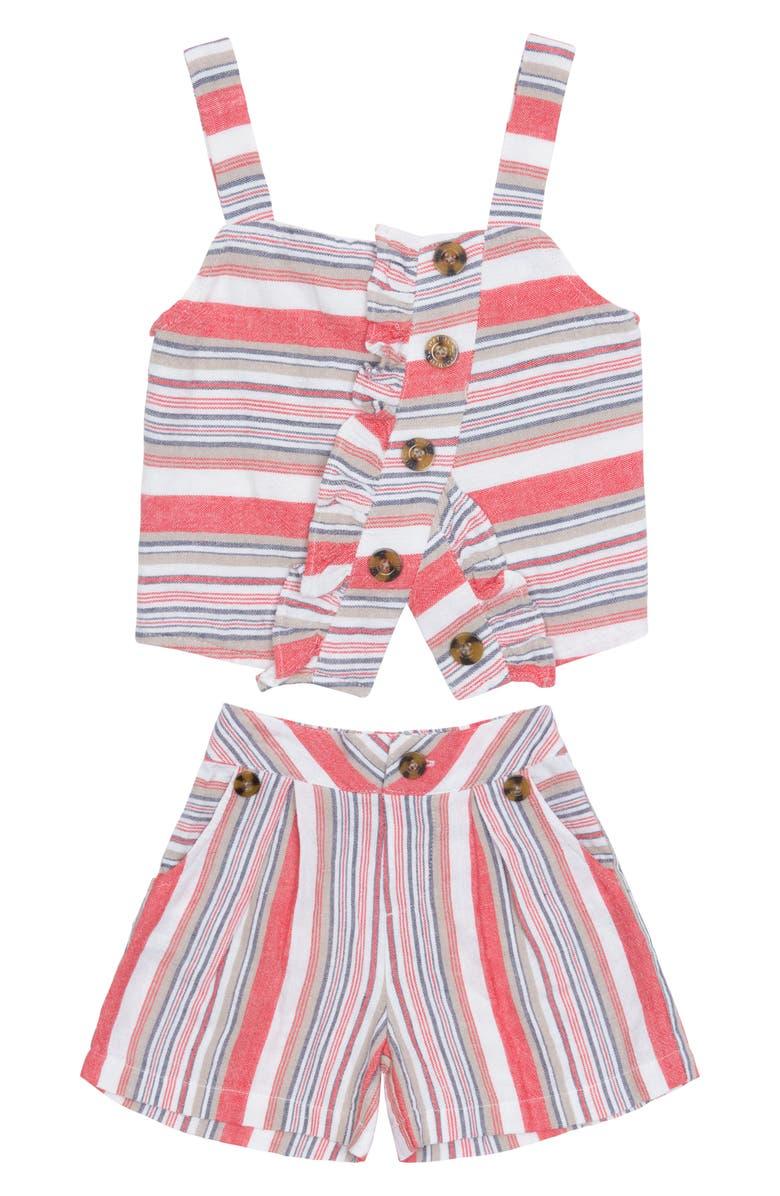 HABITUAL Girl Ginger Tank & Shorts Set, Main, color, 100