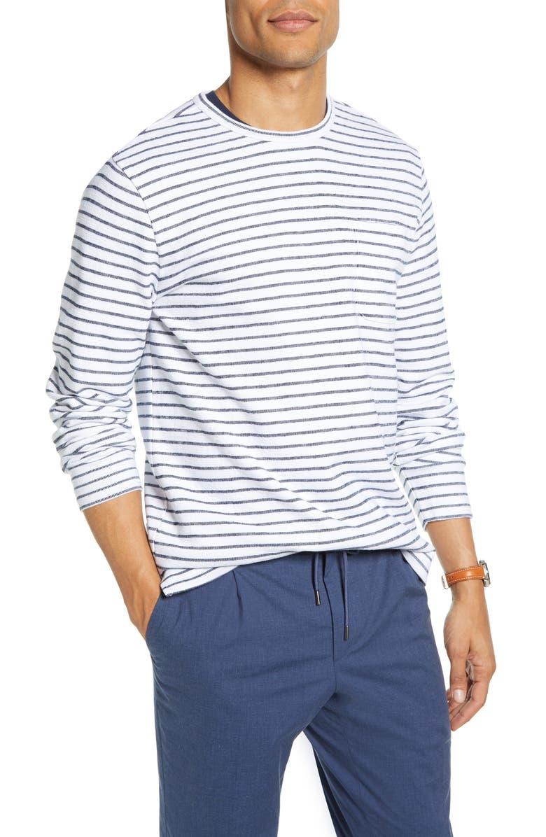 1901 Stripe Cotton Blend Slim Fit Sweater, Main, color, 100