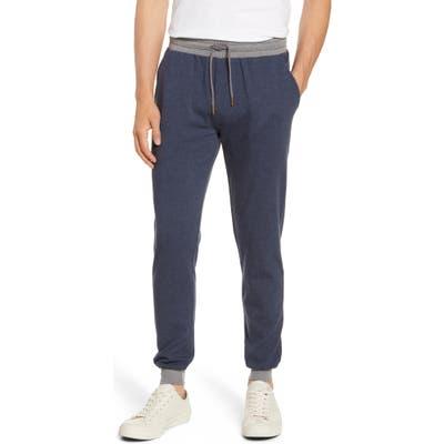 The Normal Brand Puremeso Straight Leg Flannel Sweatpants, Blue