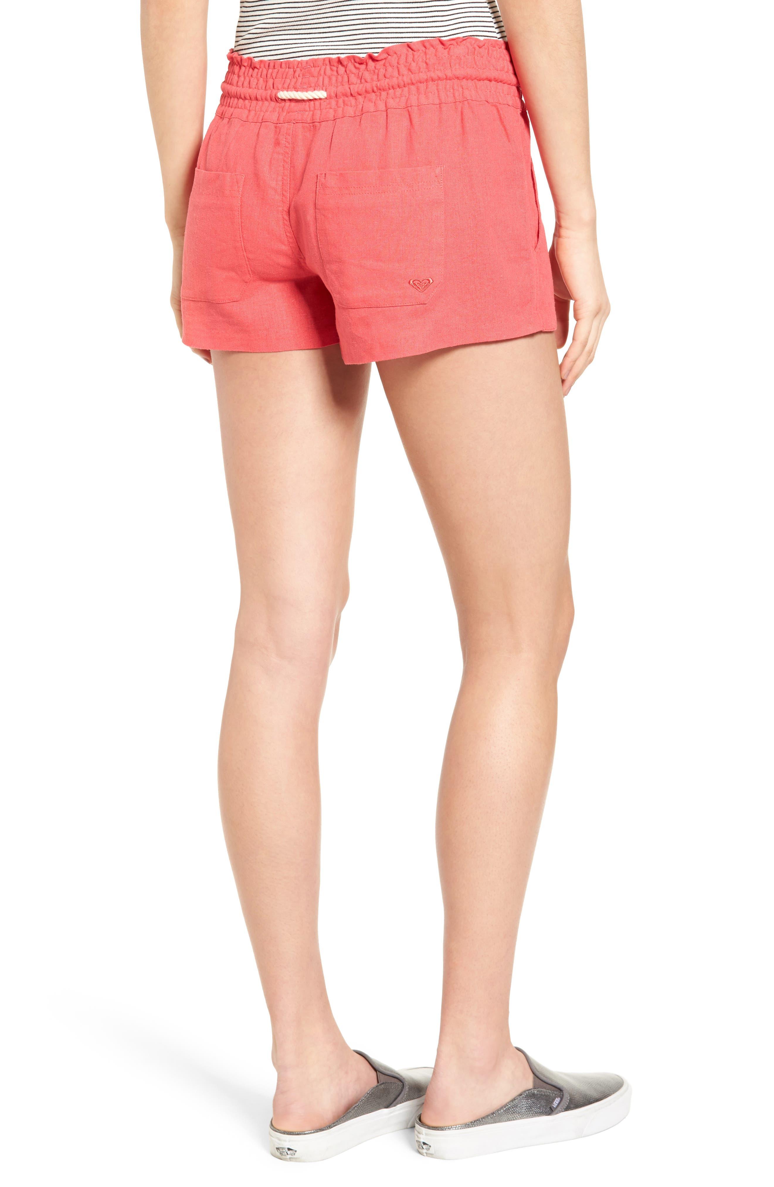 ,                             'Oceanside' Linen Blend Shorts,                             Alternate thumbnail 37, color,                             600