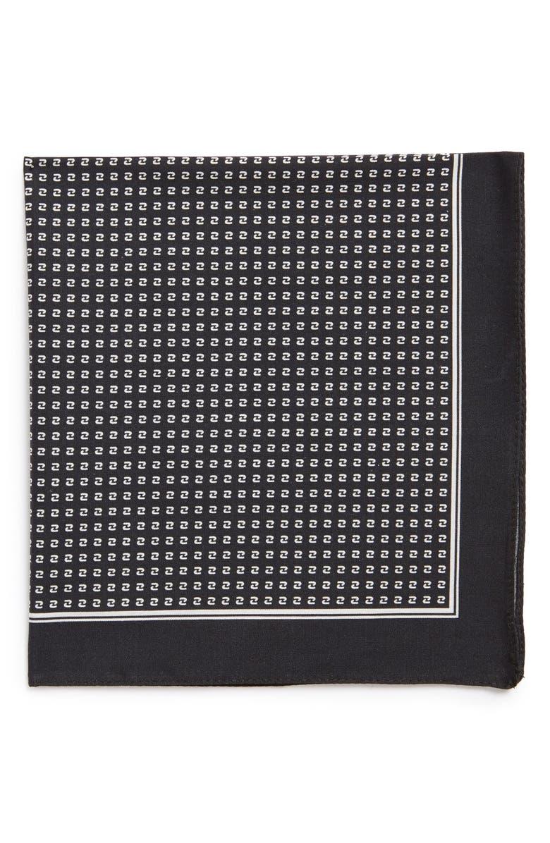 BOSS Woven Silk Pocket Square, Main, color, 002