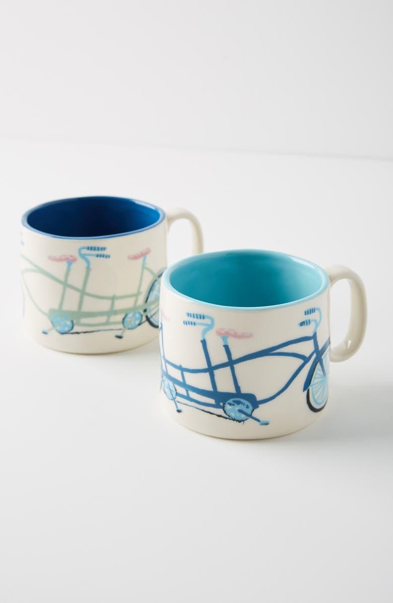 ANTHROPOLOGIE Tandem Mug Set of 2 Mugs, Main, color, BETTER TOGETHER