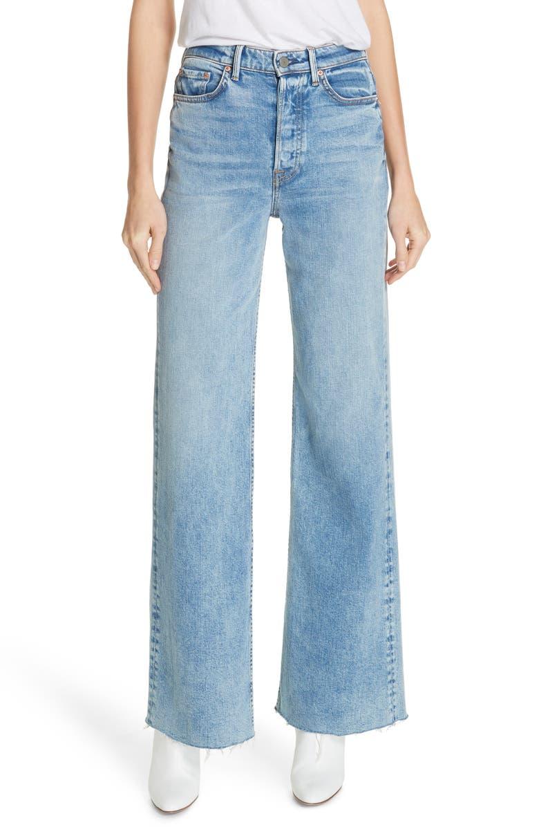 GRLFRND Carla Wide Leg Jeans, Main, color, ON THE RUN