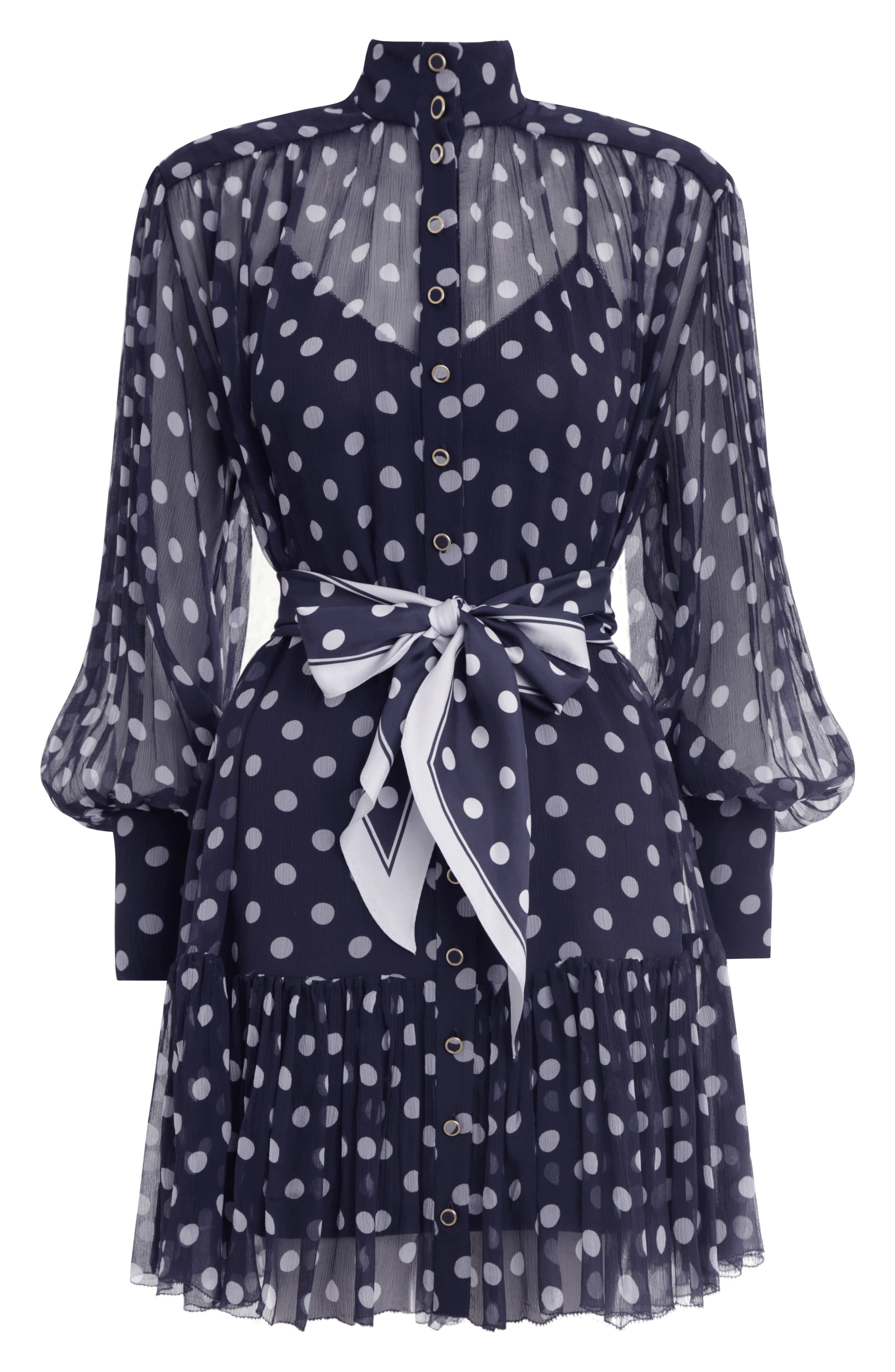 Zimmermann Dresses Sabotage Lantern Long Sleeve Silk Minidress
