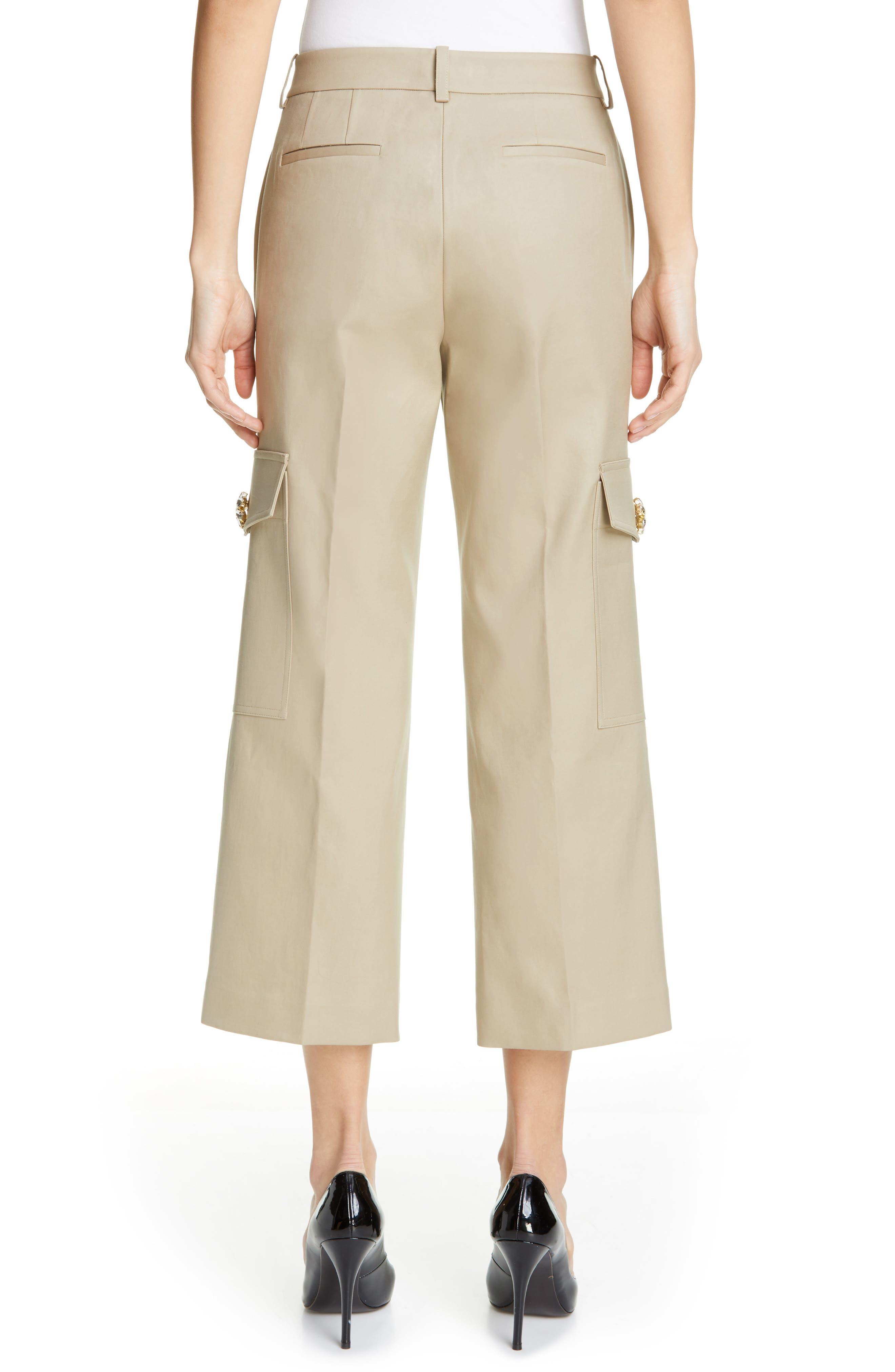 ,                             Embellished Crop Cargo Pants,                             Alternate thumbnail 2, color,                             SAND