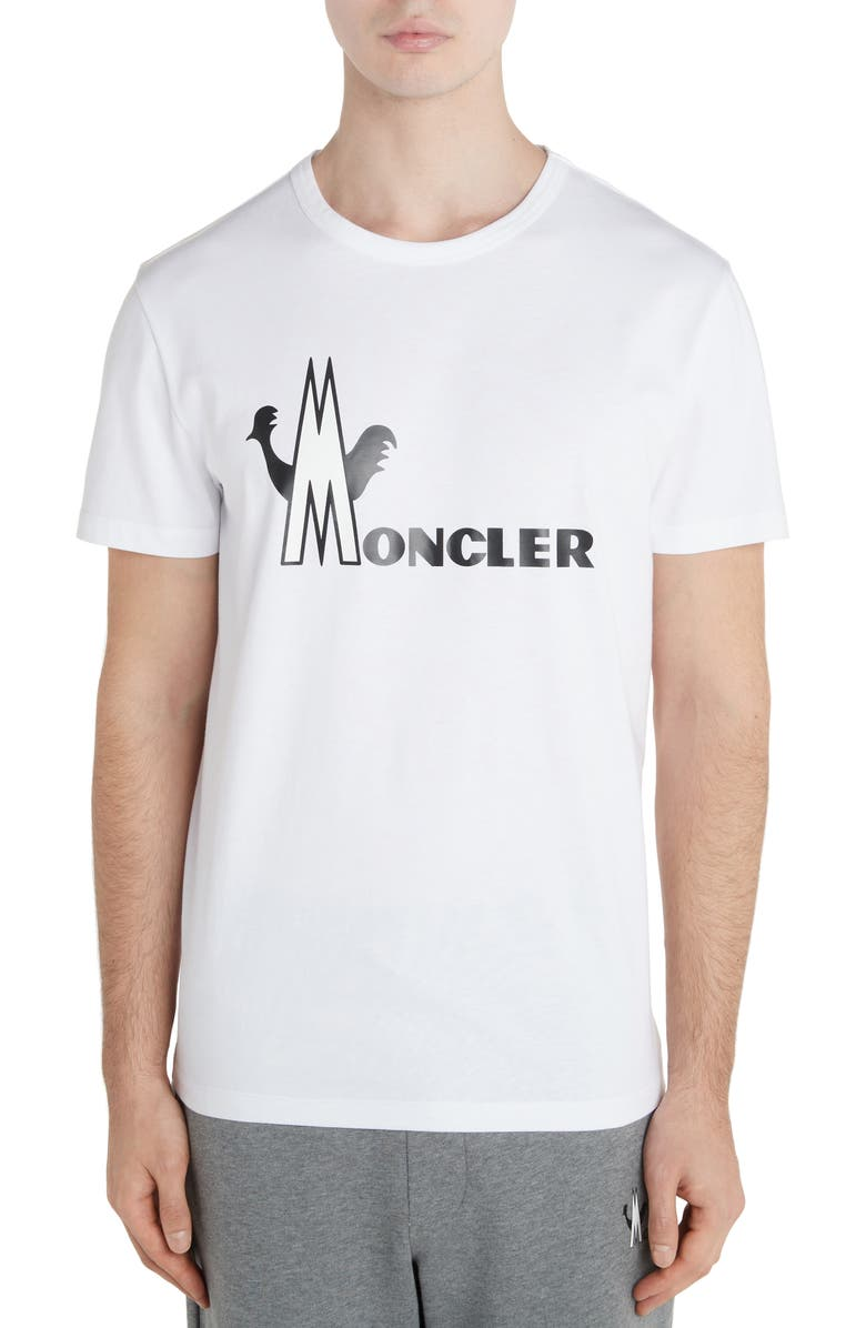 MONCLER Logo Graphic T-Shirt, Main, color, WHITE
