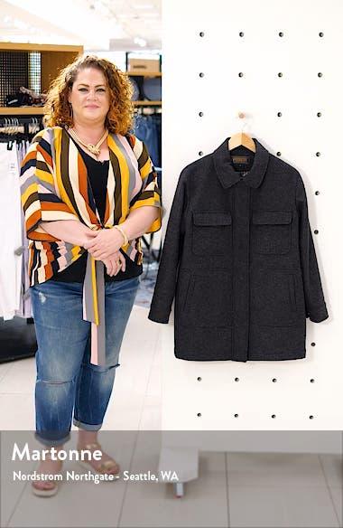 Kit Wool Blend Shirt Jacket, sales video thumbnail