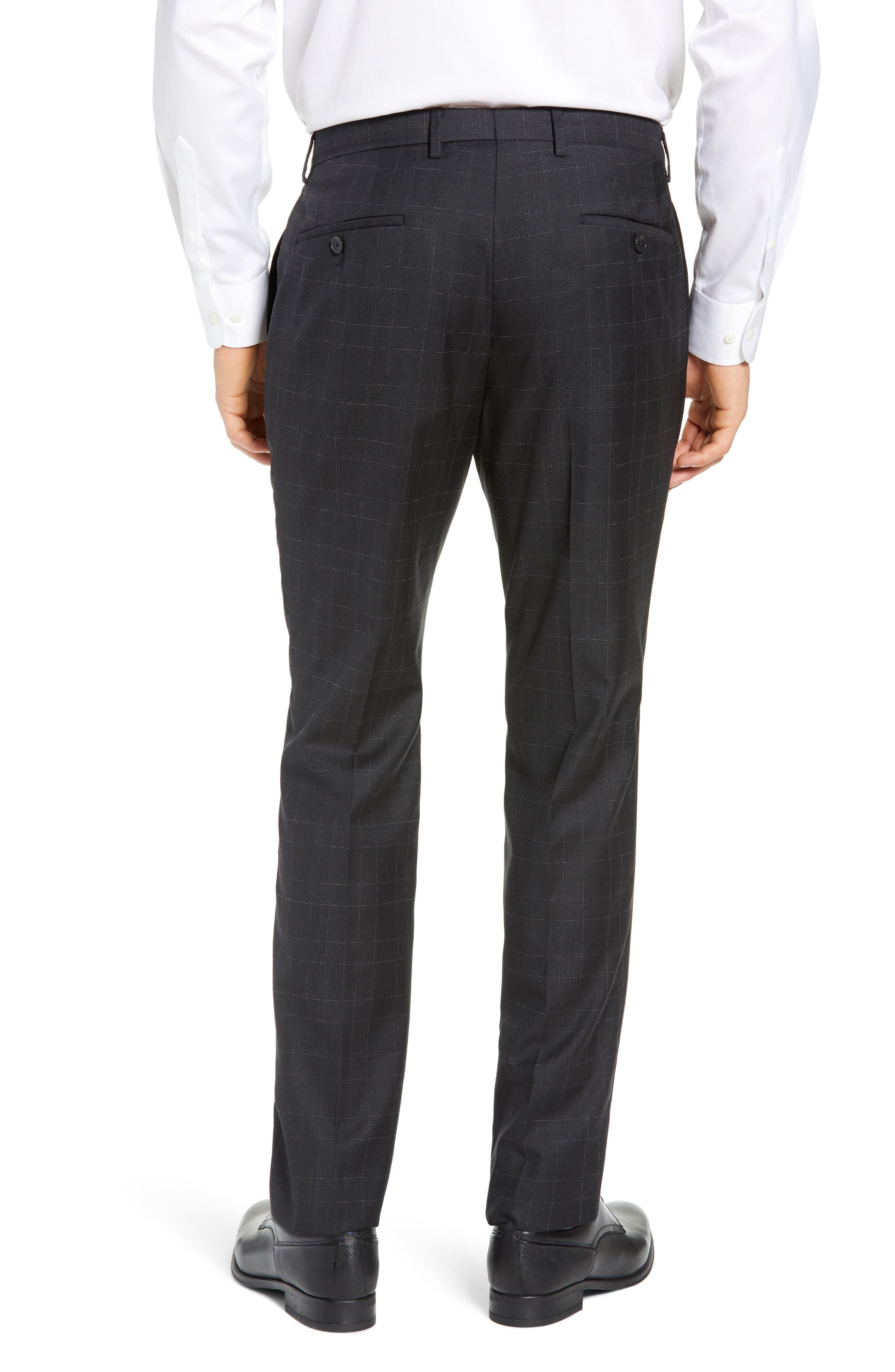 ,                             Genesis Flat Front Plaid Wool Trousers,                             Alternate thumbnail 2, color,                             020