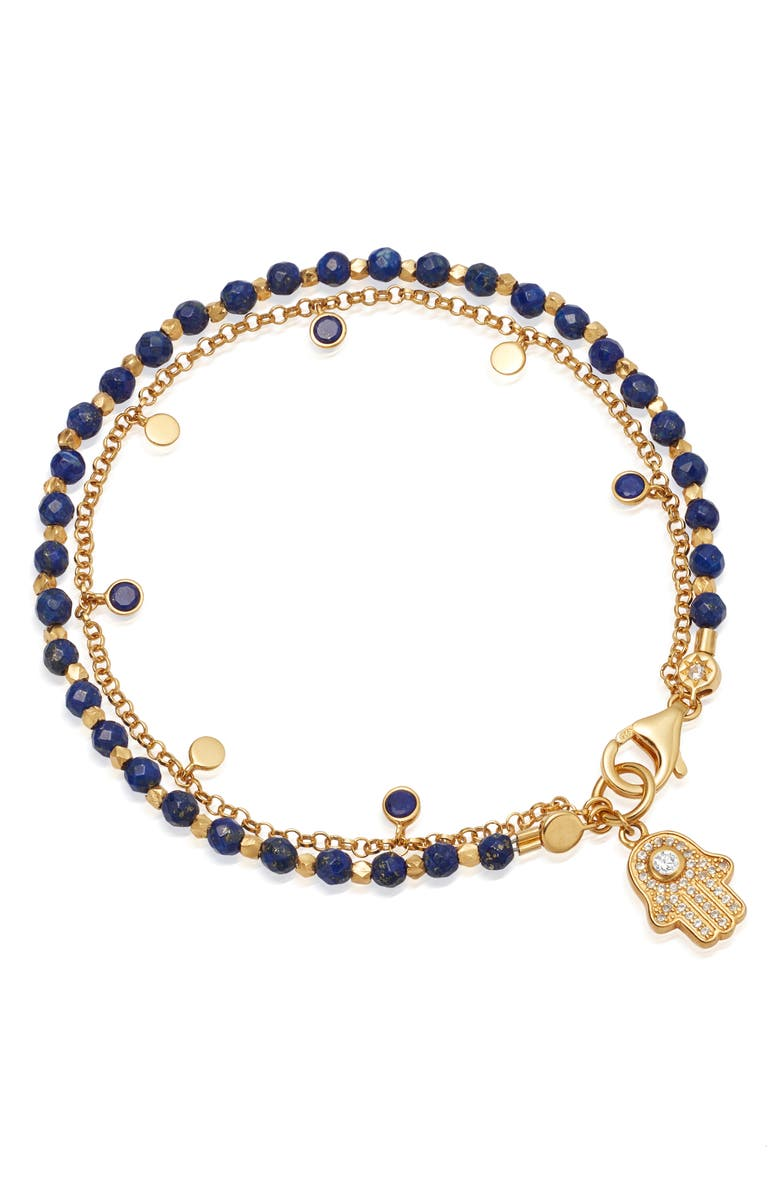 ASTLEY CLARKE Hamsa Biography Bracelet, Main, color, LAPIS/ YELLOW GOLD