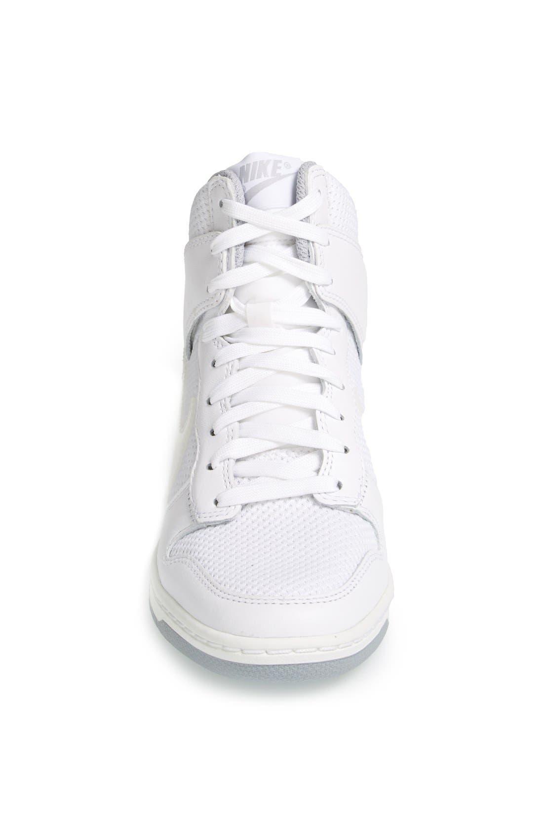 ,                             'Dunk Sky Hi - Essential' Wedge Sneaker,                             Alternate thumbnail 32, color,                             100