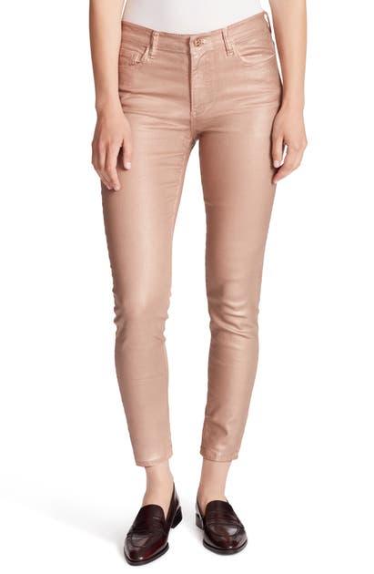 Ella Moss Jeans METALLIC HIGH WAIST ANKLE SKINNY JEANS