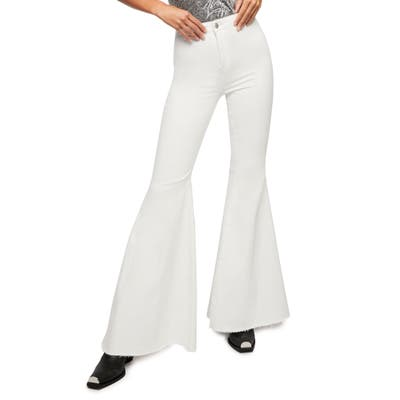 We The Free By Free People Just Float On High Waist Flare Leg Pants, 7 - White