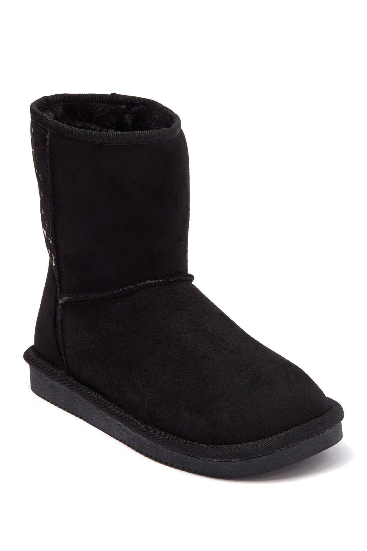 Image of Joe Fresh Fauvel Faux Fur Lined Star Print Cozy Boot