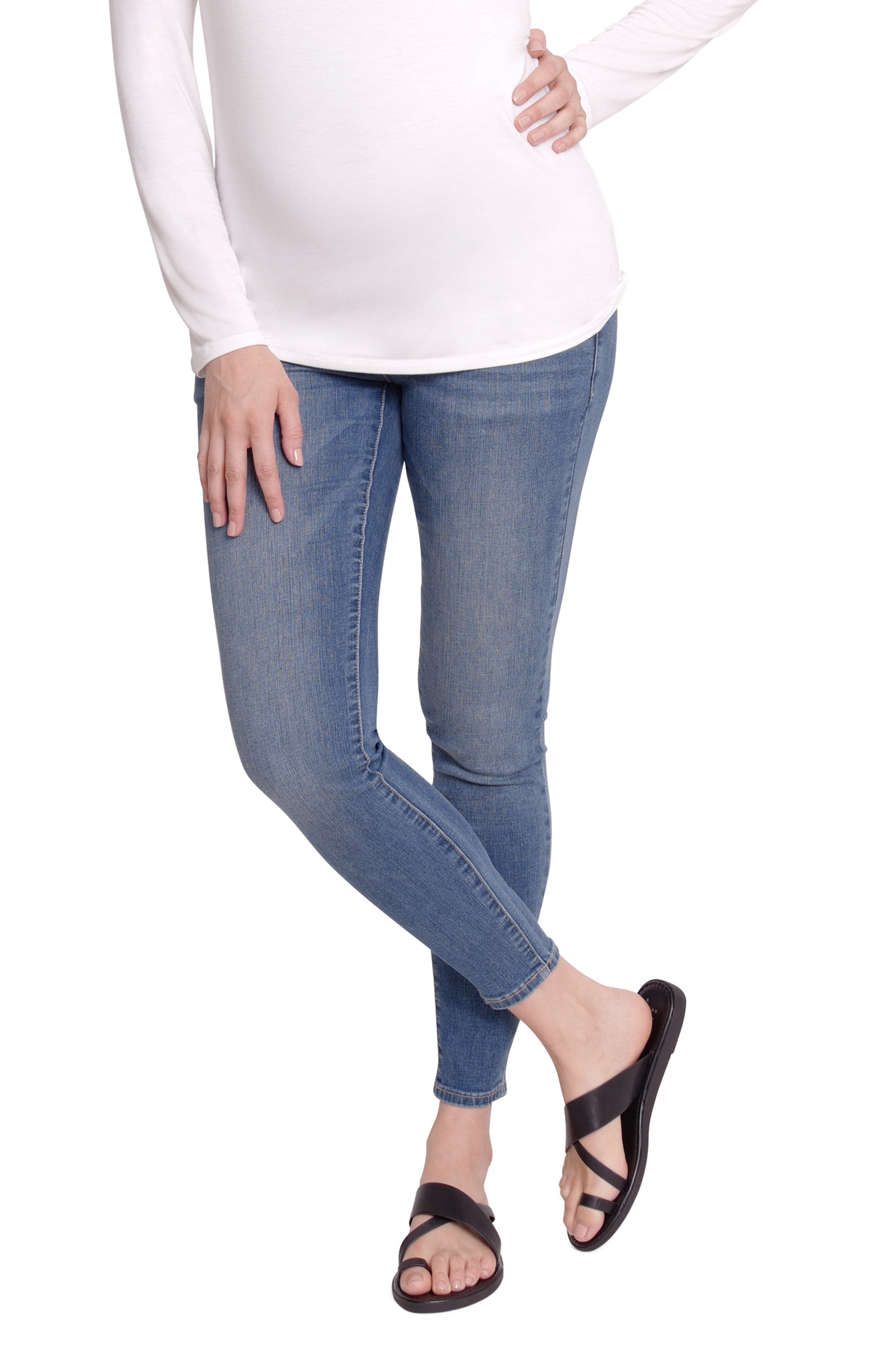 Women's Ingrid & Isabel Crossover Panel Maternity Skinny Jeans