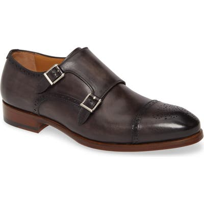Magnanni Kenton Double Monk Strap Shoe- Grey