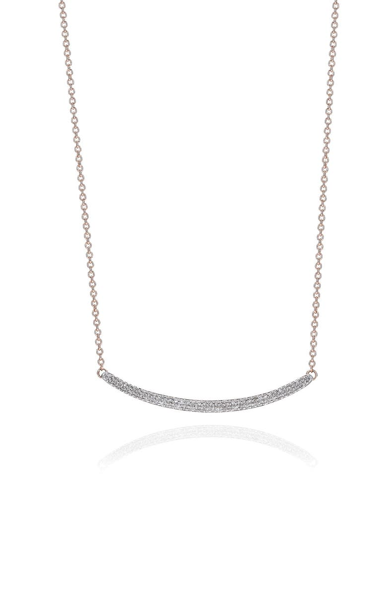 MONICA VINADER Skinny Diamond Necklace, Main, color, ROSE GOLD