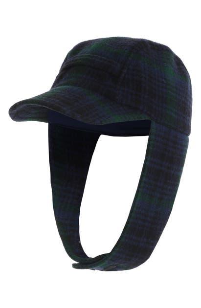 Woolrich Hats WOOL PLAID HUNTING HAT - BLACK