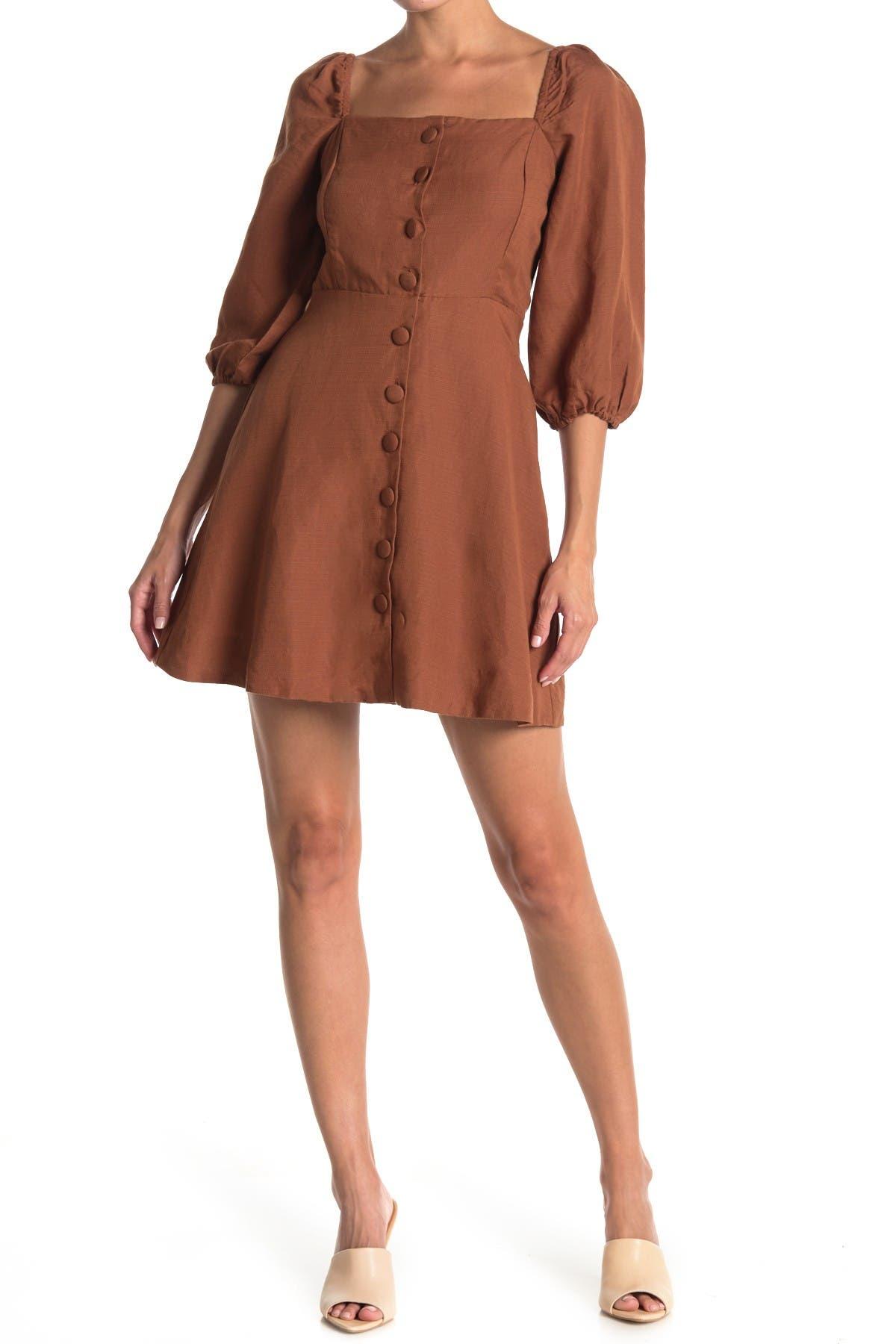 Image of Amuse Society Raya Short Sleeve Woven Dress