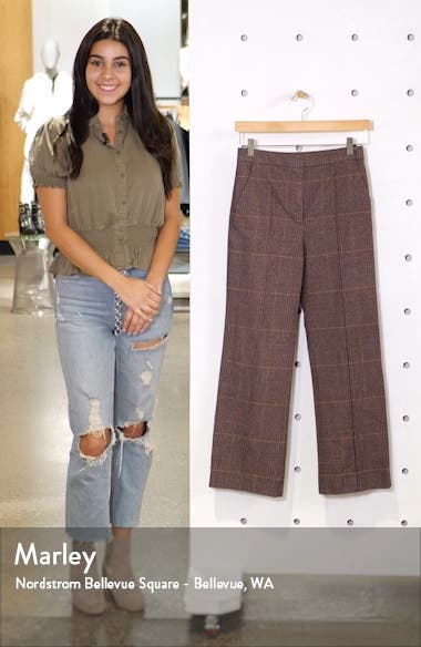 Astrid Plaid Stretch Cotton Pants, sales video thumbnail