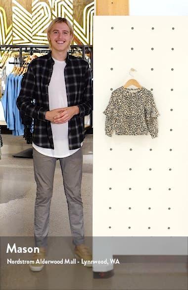 Leopard Print Ruffle Sleeve Pullover, sales video thumbnail