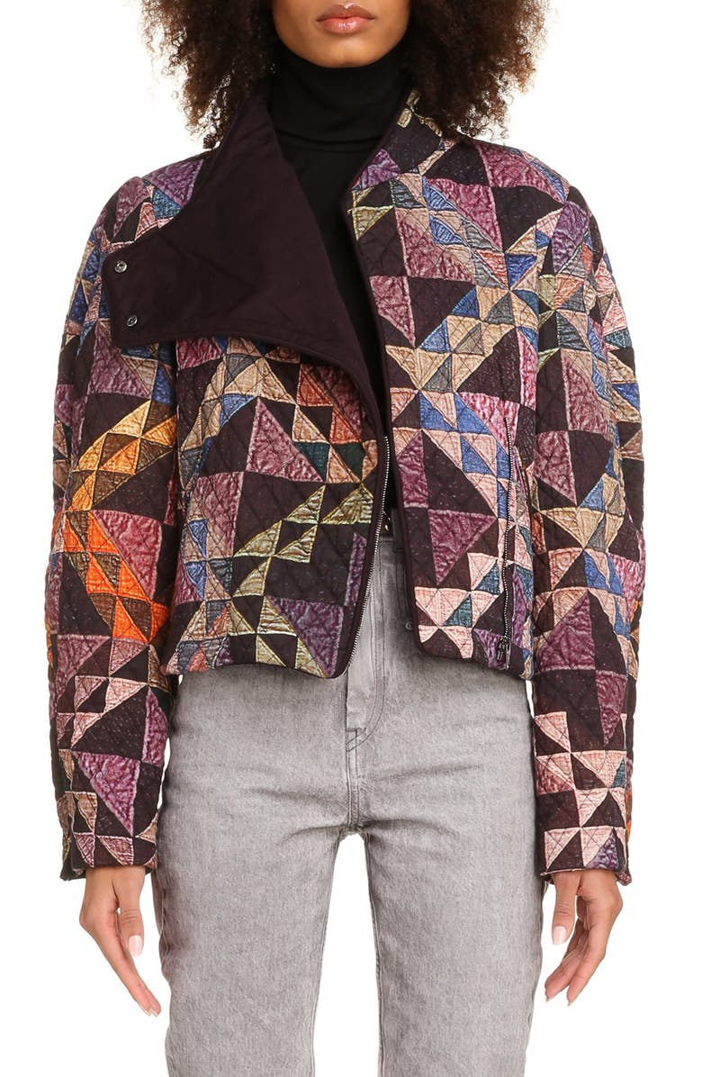 ISABEL MARANT Nomadic Quilt Jacket, Main, color, VIOLET