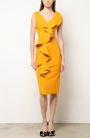Janka Ruffle Midi Cocktail Dress, video thumbnail
