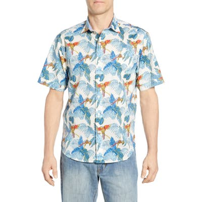 Tommy Bahama 24 Parrot Fronds Classic Fit Shirt, White