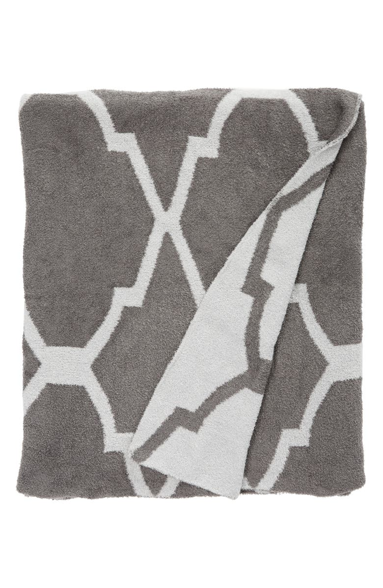 GIRAFFE AT HOME 'Moroccan Dolce' Throw, Main, color, CHARCOAL/ SILVER