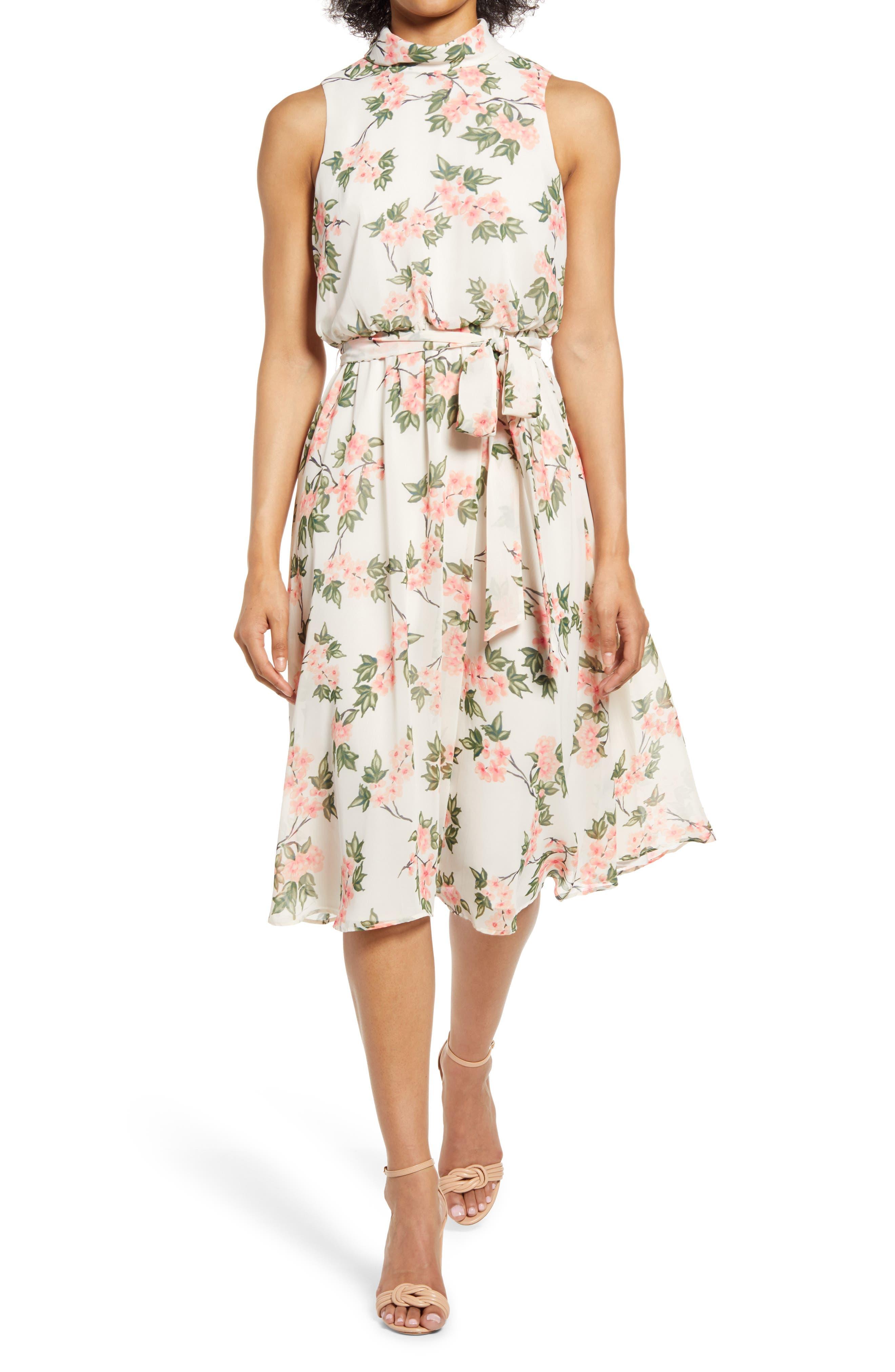 Floral Sleeveless Midi Dress