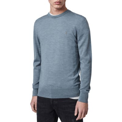 Allsaints Mode Slim Fit Merino Wool Sweater, Blue