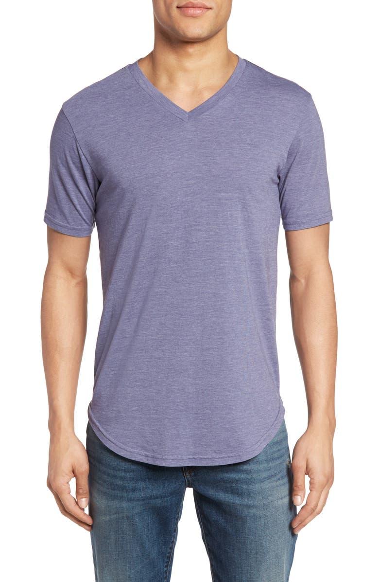 GOODLIFE Scallop Triblend V-Neck T-Shirt, Main, color, 500