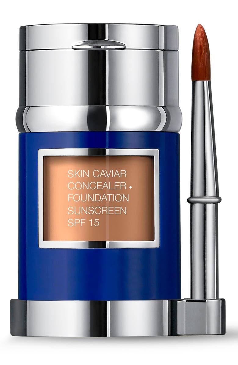 LA PRAIRIE Skin Caviar Concealer + Foundation Sunscreen SPF 15, Main, color, MOCHA