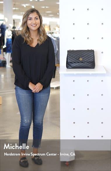 Kira Chevron Leather Crossbody Bag, sales video thumbnail