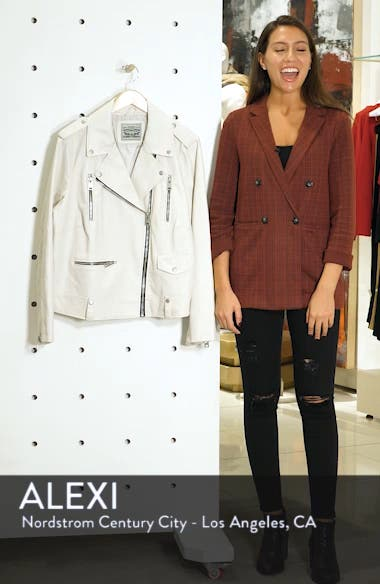 Lamb Touch Faux Leather Moto Jacket, sales video thumbnail