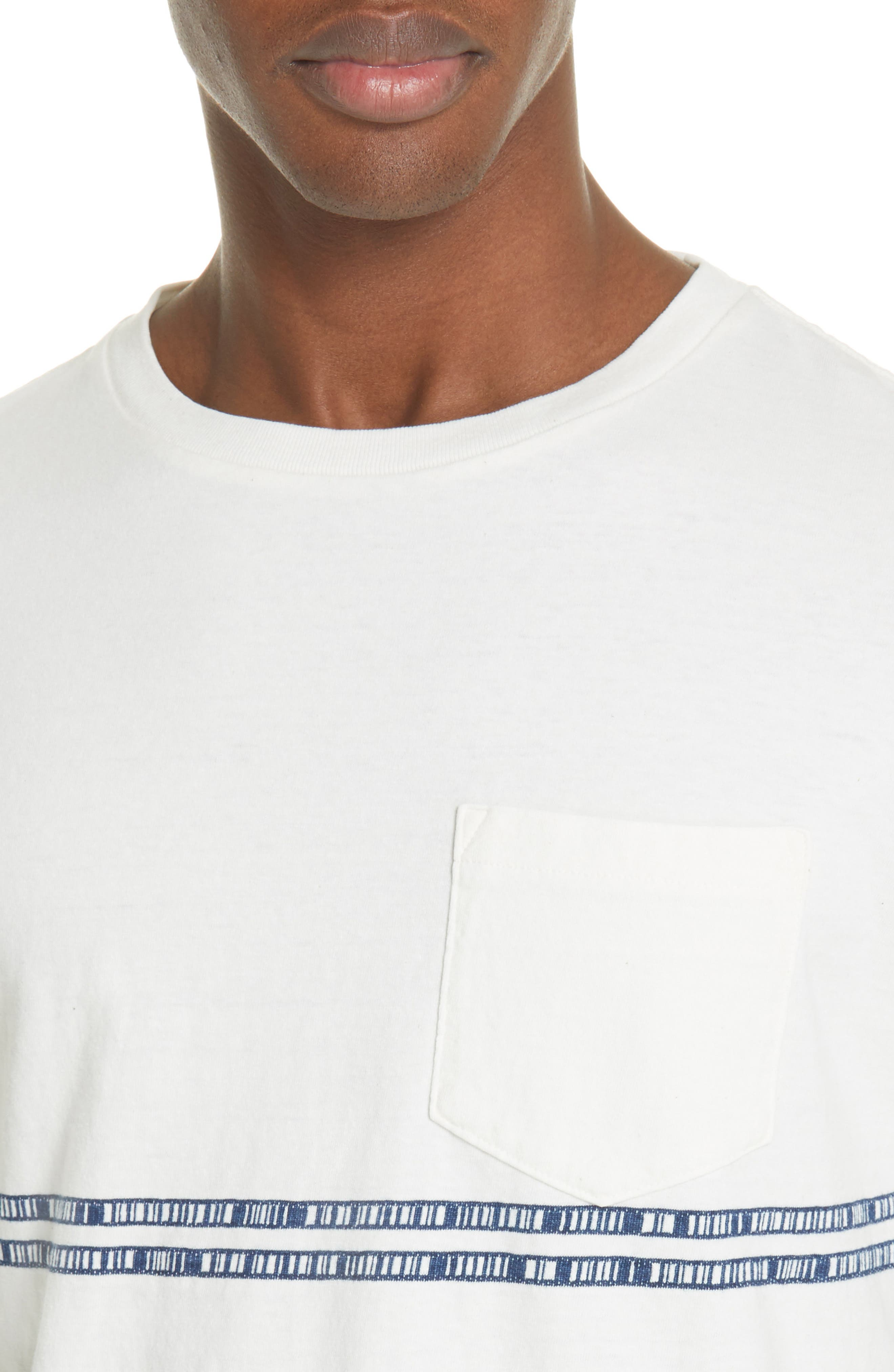 ,                             Embroidered Stripe T-Shirt,                             Alternate thumbnail 4, color,                             100