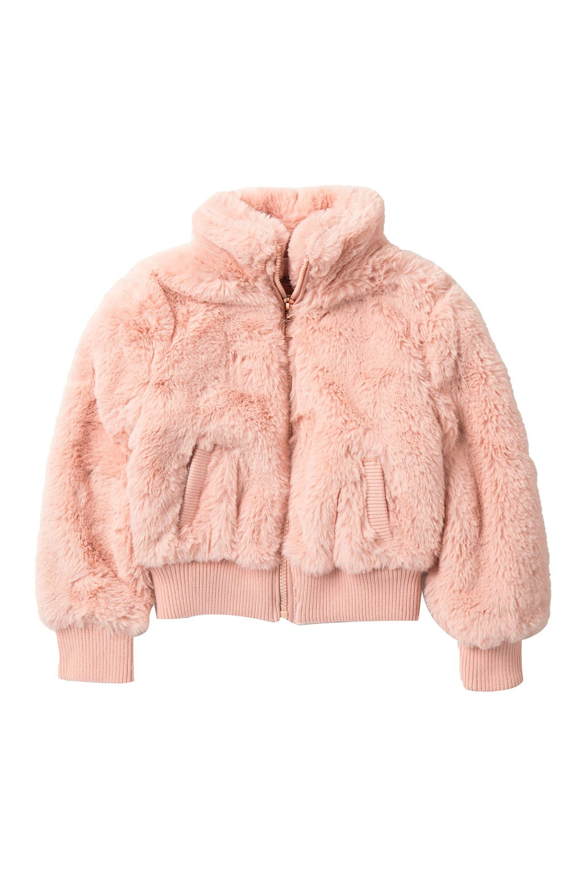 Image of Urban Republic Faux Fur Bomber Jacket ( Little Girls)