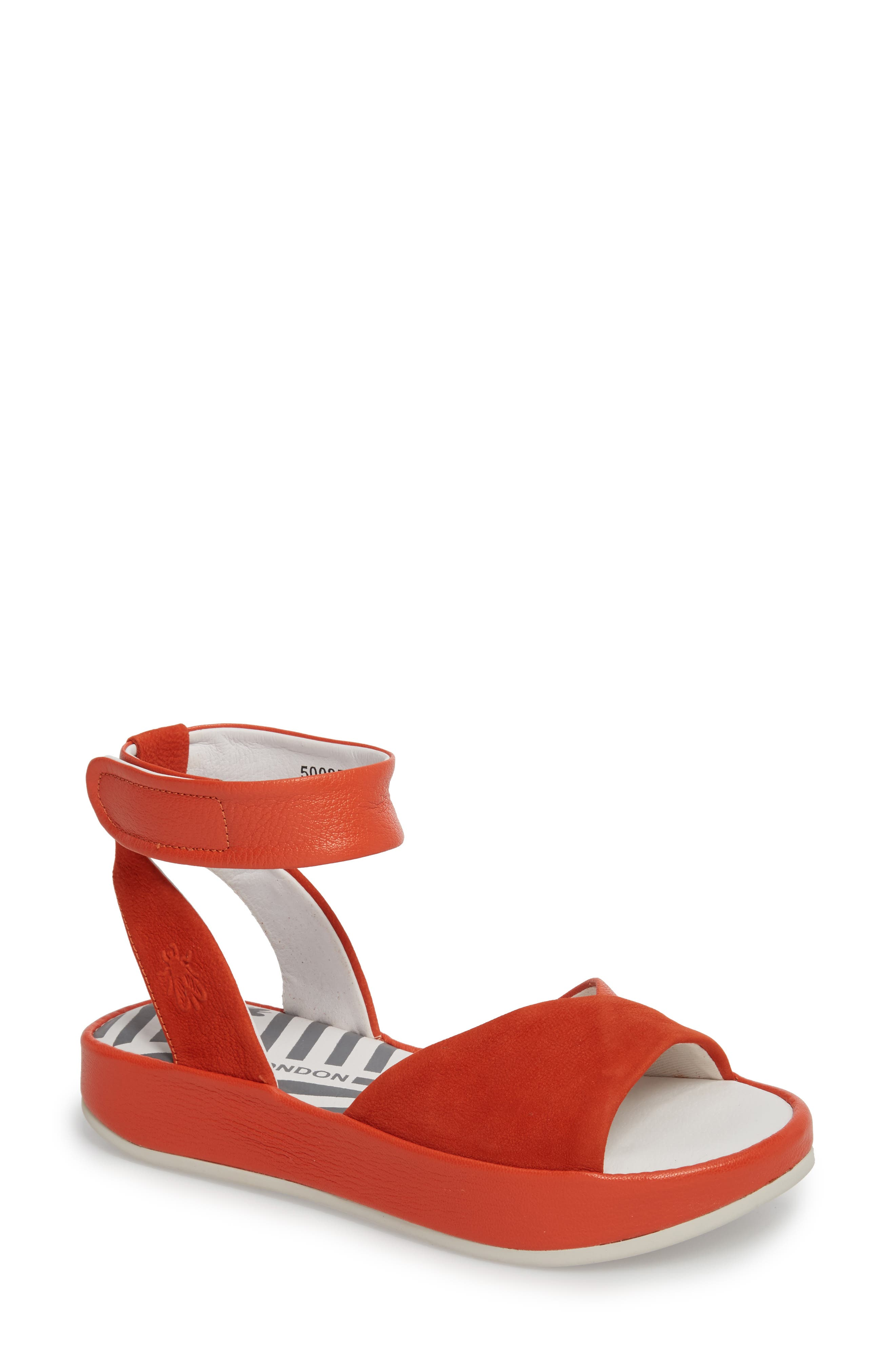 Fly London Bibb Sandal - Orange